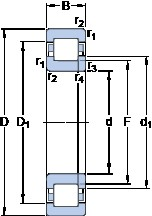 40 mm x 90 mm x 23 mm  SKF NUP 308 ECM thrust ball bearings