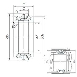 NACHI 103TAD20 thrust ball bearings