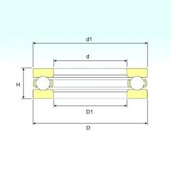 ISB 51416 M thrust ball bearings