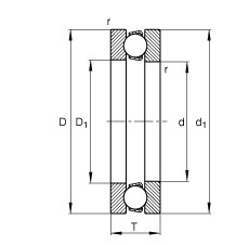 FAG 51205 thrust ball bearings