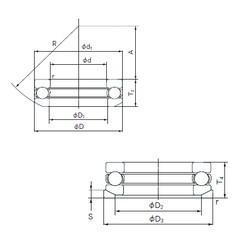 NACHI 53218U thrust ball bearings