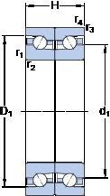 SKF BTM 80 ATN9/HCP4CDB thrust ball bearings