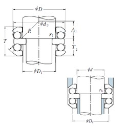 70 mm x 105 mm x 10 mm  NSK 54214 thrust ball bearings