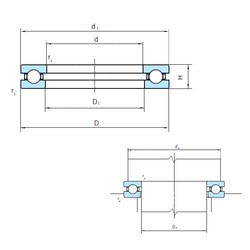 PSL 51272 thrust ball bearings
