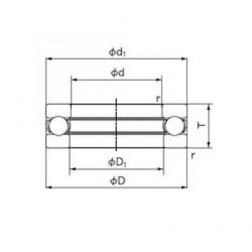 NACHI 51211 thrust ball bearings
