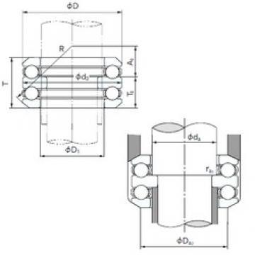 NACHI 54320 thrust ball bearings