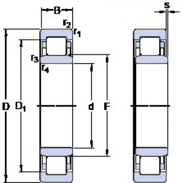 25 mm x 62 mm x 24 mm  SKF NU 2305 ECP thrust ball bearings