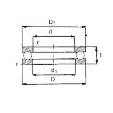 FBJ 51105 thrust ball bearings