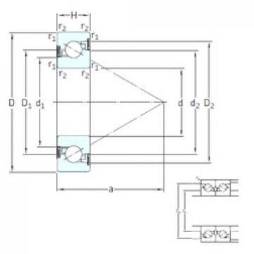 45 mm x 75 mm x 15 mm  SNFA BS 45/75 /S 7P62U thrust ball bearings