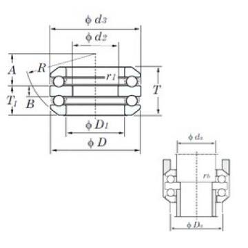 KOYO 54207 thrust ball bearings