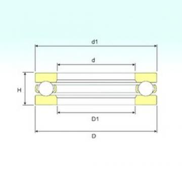 ISB 51420 M thrust ball bearings