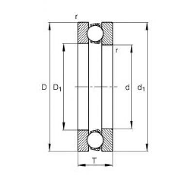 FAG 51308 thrust ball bearings