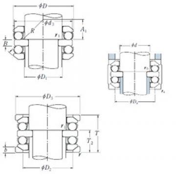 70 mm x 125 mm x 16 mm  NSK 54314U thrust ball bearings