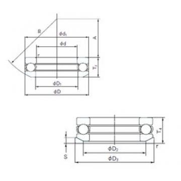 NACHI 53311U thrust ball bearings