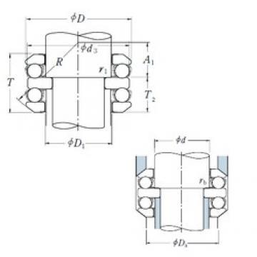 60 mm x 110 mm x 15 mm  NSK 54312 thrust ball bearings
