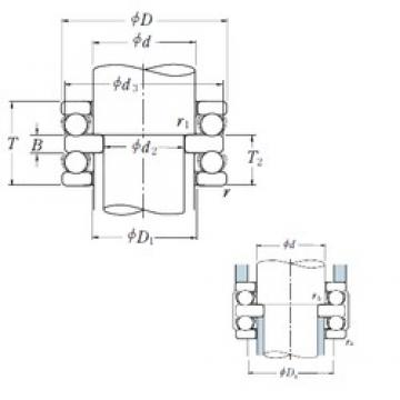 40 mm x 78 mm x 12 mm  NSK 52308 thrust ball bearings