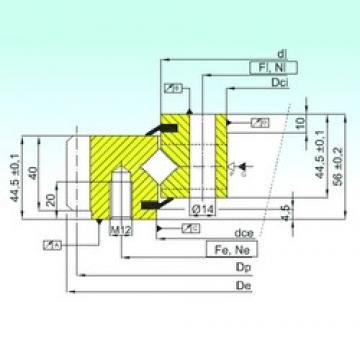 ISB ER1.14.0844.201-3STPN thrust roller bearings