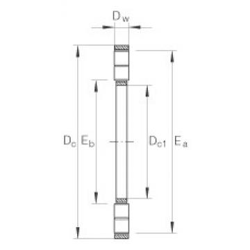 INA K89438-M thrust roller bearings