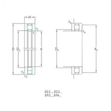 100 mm x 170 mm x 14,5 mm  SKF 89320M thrust roller bearings