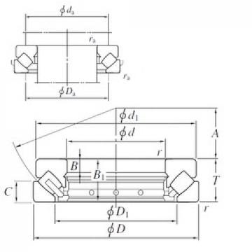 190 mm x 380 mm x 41 mm  KOYO 29438R thrust roller bearings