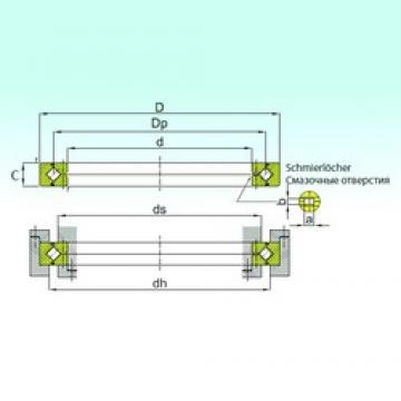 110 mm x 135 mm x 12 mm  ISB RB 11012 thrust roller bearings
