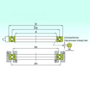 600 mm x 700 mm x 40 mm  ISB RB 60040 thrust roller bearings