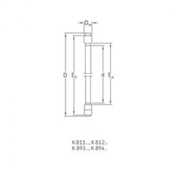SKF K81130TN thrust roller bearings