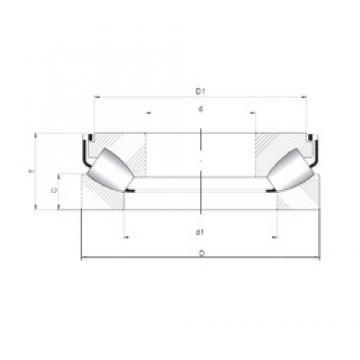 ISO 29322 M thrust roller bearings
