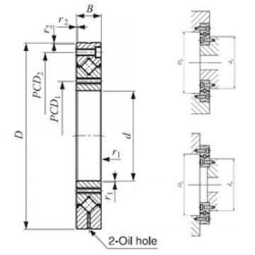 55 mm x 120 mm x 15 mm  IKO CRBF 5515 AT UU thrust roller bearings