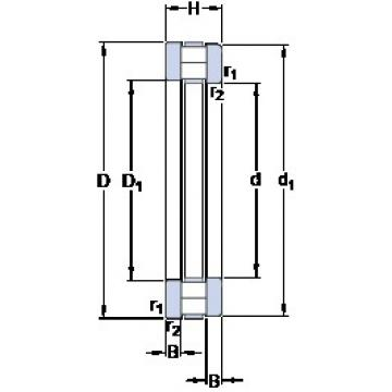75 mm x 135 mm x 12.5 mm  SKF 89315 TN thrust roller bearings
