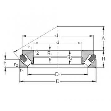 130 mm x 270 mm x 55,5 mm  NKE 29426-M thrust roller bearings
