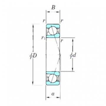 140 mm x 250 mm x 42 mm  KOYO 7228CPA angular contact ball bearings