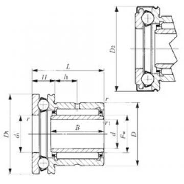 14 mm x 26 mm x 17 mm  IKO NAXI 1425Z complex bearings