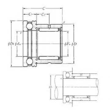 NTN NKX20T2 complex bearings