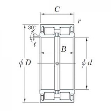 360 mm x 540 mm x 243 mm  KOYO DC5072 cylindrical roller bearings