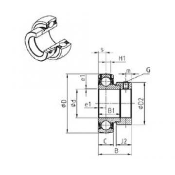 55,5625 mm x 100 mm x 48,4 mm  SNR ES211-35 deep groove ball bearings