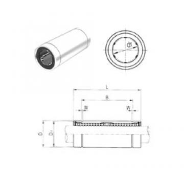 60 mm x 90 mm x 170 mm  Samick LM60LUU linear bearings