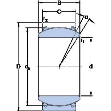 25 mm x 42 mm x 20 mm  SKF GE 25 TXE-2LS plain bearings