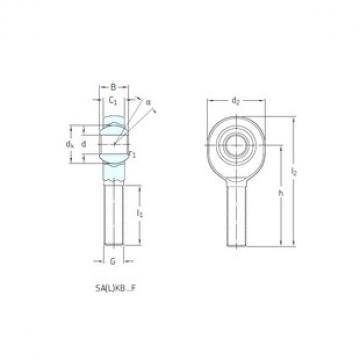 SKF SAKB5F plain bearings