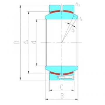 320 mm x 460 mm x 230 mm  LS GEH320HC plain bearings