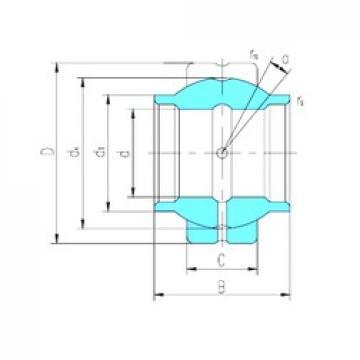 44,45 mm x 71,438 mm x 66,675 mm  LS GEWZ44ES plain bearings