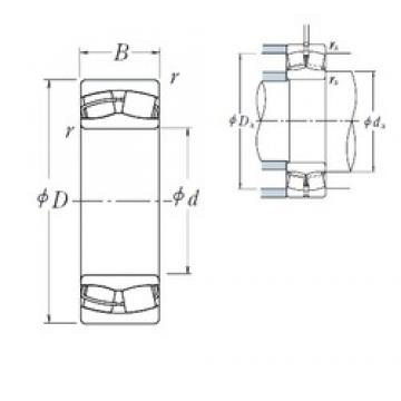 220 mm x 370 mm x 120 mm  NSK 23144CE4 spherical roller bearings