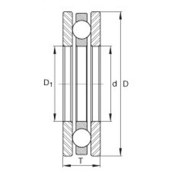 INA 4404 thrust ball bearings