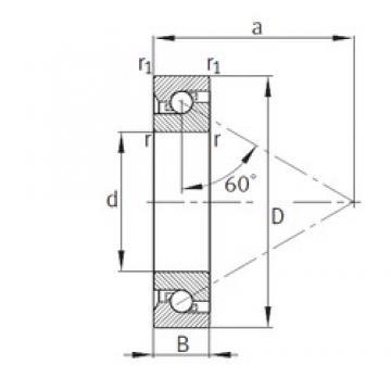 55 mm x 120 mm x 29 mm  FAG 7603055-TVP thrust ball bearings
