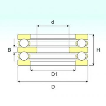150 mm x 250 mm x 21 mm  ISB 52236 M thrust ball bearings