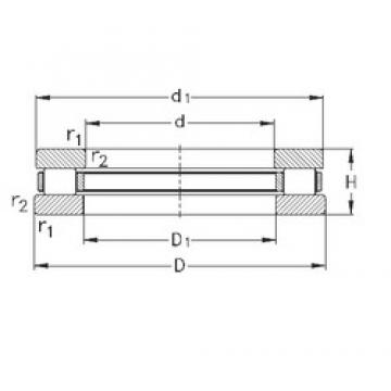 NKE 81240-MB thrust roller bearings