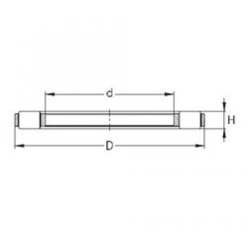 NKE K 81256-MB thrust roller bearings