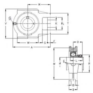 90 mm x 28 mm x 55 mm  NKE RTUE 90 bearing units