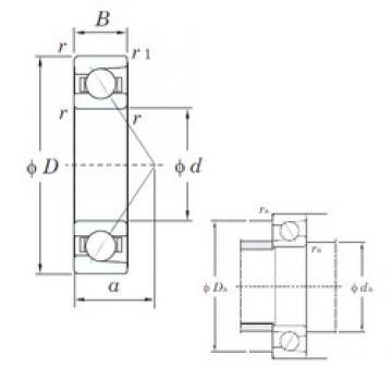 40 mm x 68 mm x 15 mm  KOYO HAR008C angular contact ball bearings