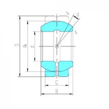 57,15 mm x 100,013 mm x 58,877 mm  LS GEGZ57ES-2RS plain bearings